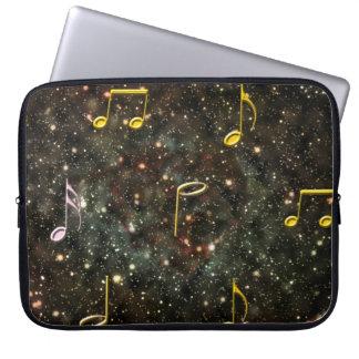 Capa Para Notebook A bolsa de laptop estrelado do PC da música das