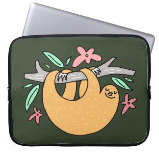 Capa Para Notebook A bolsa de laptop feliz da preguiça