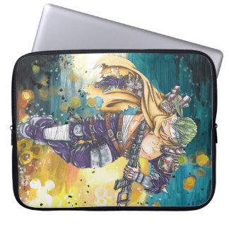 Capa Para Notebook A bolsa de laptop futurista do computador do homem