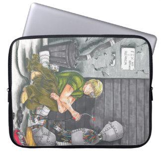 Capa Para Notebook A bolsa de laptop futurista do computador do robô