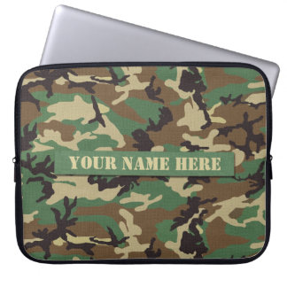 Capa Para Notebook A bolsa de laptop personalizada da camuflagem da f