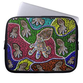 Capa Para Notebook A bolsa de laptop rodeado azul australiana do