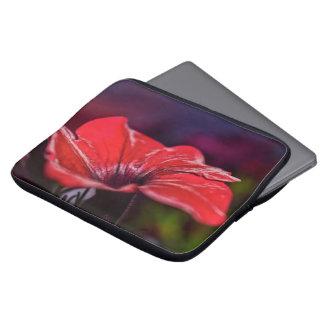 Capa Para Notebook A bolsa de laptop vermelha da flor