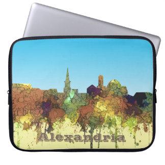 Capa Para Notebook Alexandria, skyline de Viirginia - SG - lustre do