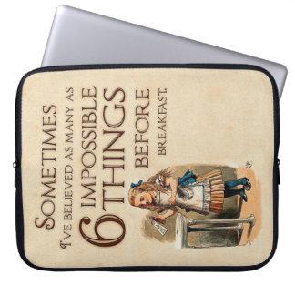 Capa Para Notebook Alice na bolsa de laptop do país das maravilhas