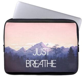 Capa Para Notebook Apenas respire o design da montanha
