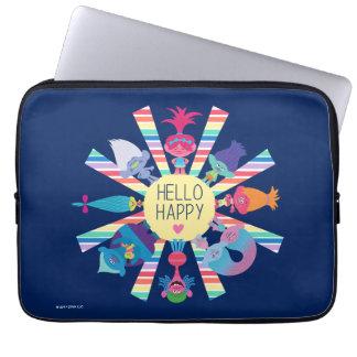 Capa Para Notebook Arco-íris Sun do bloco do petisco dos troll |