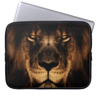 Capa Para Notebook Arte africana da cara do leão