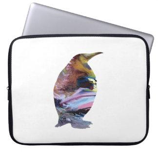 Capa Para Notebook Arte do pinguim