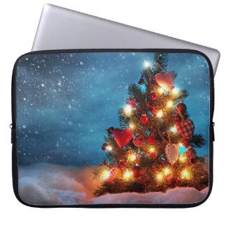 Capa Para Notebook Árvore de Natal - decorações do Natal - flocos de