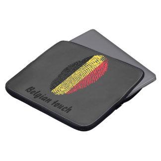 Capa Para Notebook Bandeira belga da impressão digital do toque