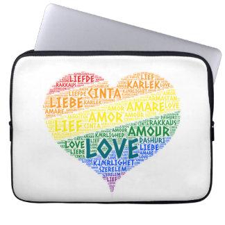 Capa Para Notebook Bandeira da lareira do arco-íris de LGBT ilustrada