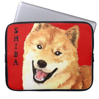 Capa Para Notebook Bloco da cor de Shiba Inu