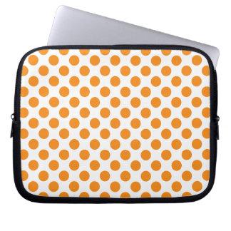 Capa Para Notebook Bolinhas alaranjadas