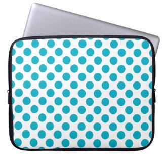 Capa Para Notebook Bolinhas profundas do Aqua