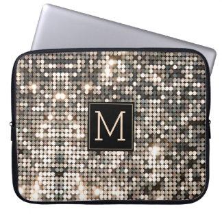 Capa Para Notebook Brilho & Sparkles de prata do disco