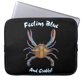 Capa Para Notebook caixa do laptop do caranguejo azul