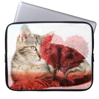 Capa Para Notebook Caixa do laptop do gato de gato malhado