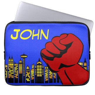 Capa Para Notebook Caixa do laptop do super-herói com nome feito sob