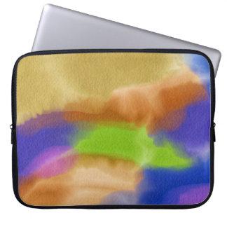 Capa Para Notebook Caixa do neopreno da mancha da cor de água