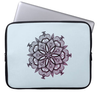 Capa Para Notebook Caleidoscópio cor-de-rosa delicioso da mandala em