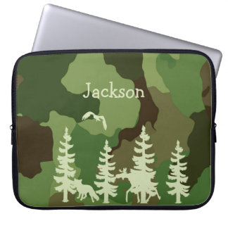 Capa Para Notebook Camuflagem dos caçadores da verde floresta e