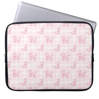 Capa Para Notebook Caniches cor-de-rosa bonitos & verificações