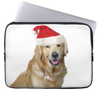 Capa Para Notebook Cão-animal de estimação do cão-papai noel de claus