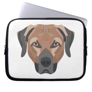 Capa Para Notebook Cão Brown Labrador da ilustração