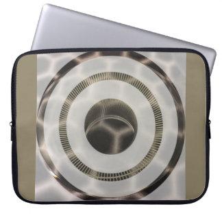 Capa Para Notebook Círculos do ouro da platina nos círculos