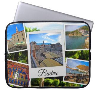 Capa Para Notebook Colagem de Budva Montenegro