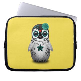 Capa Para Notebook Dia azul do pinguim inoperante do bebê