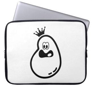 Capa Para Notebook Fantasma bonito do Dia das Bruxas com coroa