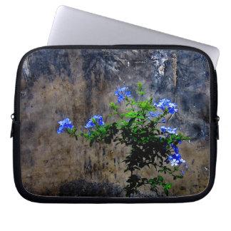 Capa Para Notebook Flor azul do Plumbago