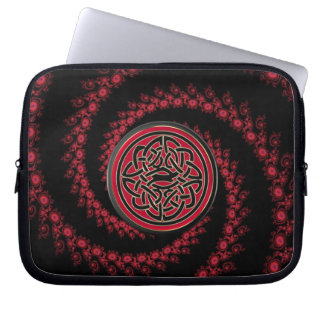 Red and Black Fractal with Celtic Knot