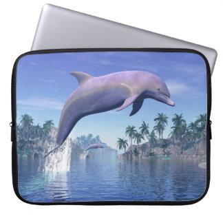 Capa Para Notebook Golfinho nos trópicos - 3D rendem