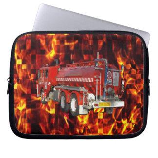 Capa Para Notebook Gráfico do polígono da viatura de incêndio no