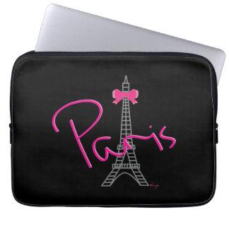 Capa Para Notebook Gráfico legal do preto da torre Eiffel de Paris