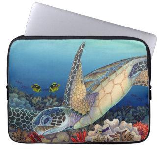 Capa Para Notebook Hatchlings da tartaruga de mar verde (Honu)
