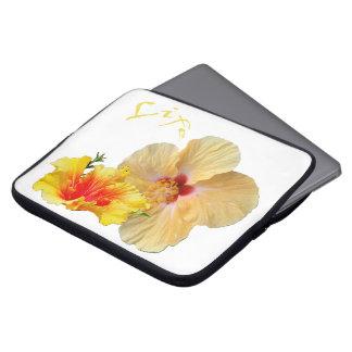 Capa Para Notebook HIBISCUS do ☼, flor do ☼ da paixão