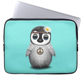 Capa Para Notebook Hippie bonito do pinguim do bebê