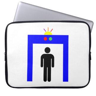 Capa Para Notebook homem da vara do alarme da segurança do detector