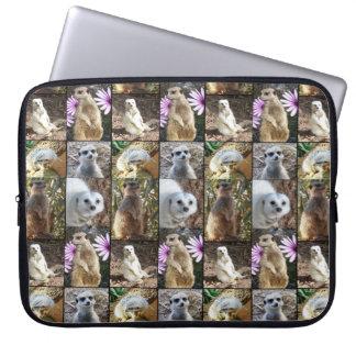 Capa Para Notebook Imagens coloridas de Meerkat em uma colagem da
