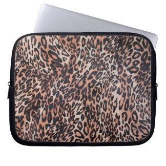 Capa Para Notebook Impressão da pele do leopardo