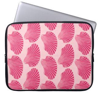 Capa Para Notebook Impressão de bloco de Shell de Scallop, fúcsia e
