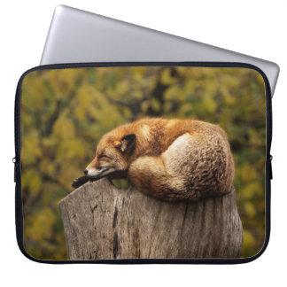 Capa Para Notebook Impressão sonolento da arte do Fox