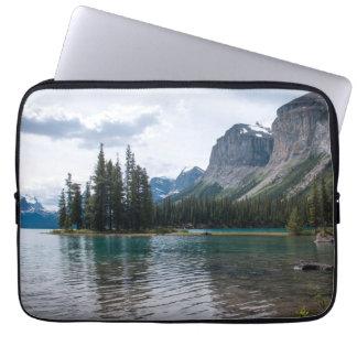 Capa Para Notebook Lago Maligne, Canadá, luva do computador portátil
