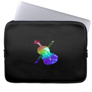 Capa Para Notebook Laptop do violino do arco-íris luva de 13