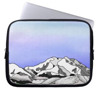 Capa Para Notebook Linha paisagem da cor da água de Denali da arte