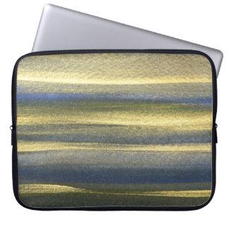"""Capa Para Notebook Linhas azuis a bolsa de laptop 15"""" do ouro do"""